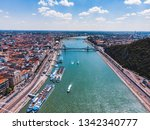 panoramic view of budapest in... | Shutterstock . vector #1342340777