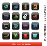 audio and video. tablet buttons ... | Shutterstock .eps vector #134234897