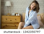 beautiful young blond woman in... | Shutterstock . vector #1342350797