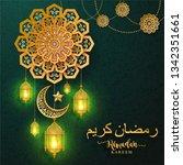ramadan kareem or eid mubarak... | Shutterstock .eps vector #1342351661
