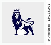 lion vector icon. football logo.... | Shutterstock .eps vector #1342351931