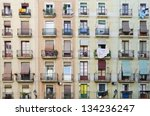 old facade house. old style...   Shutterstock . vector #134236247