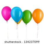 colorful balloons keeps word ... | Shutterstock . vector #134237099