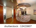 a modern front desk in an office | Shutterstock . vector #13423807