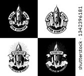 vintage black and white logo... | Shutterstock . vector #1342396181