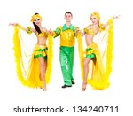 sexy carnival dancers dancing... | Shutterstock . vector #134240711