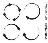 circular arrows sign vector icon   Shutterstock .eps vector #1342408067