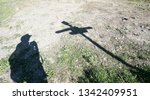 shadows hiking in the canary...   Shutterstock . vector #1342409951