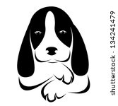 Vector Image Of An Dog On Whit...