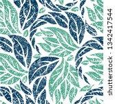vector seamless floral grunge... | Shutterstock .eps vector #1342417544