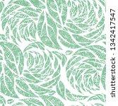 vector seamless floral grunge... | Shutterstock .eps vector #1342417547