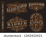 set of vintage barbershop... | Shutterstock .eps vector #1342423421