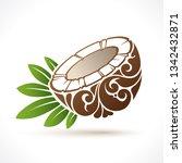 vector illustration coconut  ...   Shutterstock .eps vector #1342432871