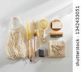 zero waste  compostable... | Shutterstock . vector #1342433051