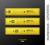 vector bright yellow banners set | Shutterstock .eps vector #134243531