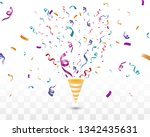lots of colorful tiny confetti... | Shutterstock .eps vector #1342435631