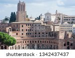 rome  italy city skyline with... | Shutterstock . vector #1342437437