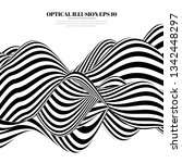 optical illusion lines... | Shutterstock .eps vector #1342448297