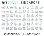 set of vector line icons of... | Shutterstock .eps vector #1342449644