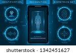 biometric identification...   Shutterstock .eps vector #1342451627