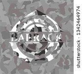 barrack written on a grey... | Shutterstock .eps vector #1342464974