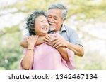happy asian senior couple in...   Shutterstock . vector #1342467134
