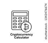 bitcoin calculator outline icon....