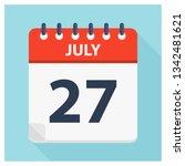 july 27   calendar icon  ... | Shutterstock .eps vector #1342481621