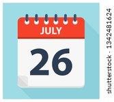 july 26   calendar icon  ... | Shutterstock .eps vector #1342481624