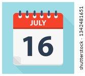 july 16   calendar icon  ... | Shutterstock .eps vector #1342481651