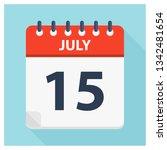 july 15   calendar icon  ... | Shutterstock .eps vector #1342481654