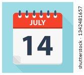 july 14   calendar icon  ... | Shutterstock .eps vector #1342481657