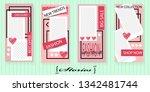 set of trendy templates for... | Shutterstock .eps vector #1342481744