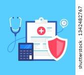 health insurance. vector... | Shutterstock .eps vector #1342482767