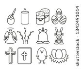 Easter Icons  Set With White...