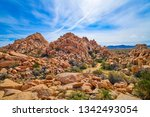 Rock formations at the enterence to Box Canyon, Joshua Tree National Park.