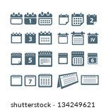 different styles of calendar... | Shutterstock .eps vector #134249621