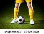 Close Up Of A Soccer Ball And ...