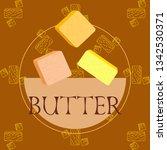 vector yellow stick of butter.... | Shutterstock .eps vector #1342530371