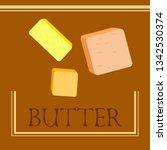 vector yellow stick of butter.... | Shutterstock .eps vector #1342530374