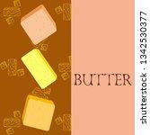 vector yellow stick of butter.... | Shutterstock .eps vector #1342530377