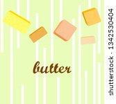 vector yellow stick of butter.... | Shutterstock .eps vector #1342530404