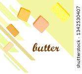vector yellow stick of butter.... | Shutterstock .eps vector #1342530407