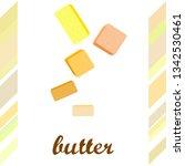 vector yellow stick of butter.... | Shutterstock .eps vector #1342530461