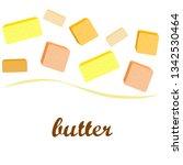 vector yellow stick of butter.... | Shutterstock .eps vector #1342530464
