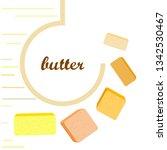 vector yellow stick of butter.... | Shutterstock .eps vector #1342530467