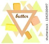 vector yellow stick of butter.... | Shutterstock .eps vector #1342530497