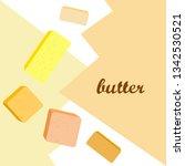 vector yellow stick of butter.... | Shutterstock .eps vector #1342530521