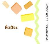 vector yellow stick of butter.... | Shutterstock .eps vector #1342530524