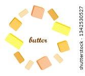 vector yellow stick of butter.... | Shutterstock .eps vector #1342530527